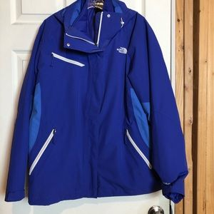 The North Face Blue 3-in-1 Jacket Women's XL
